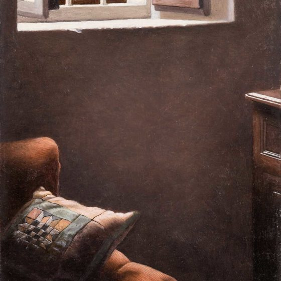 Villa di Xavier Bueno 5 olio su cartone, cm 14×13 [ collezione privata ]