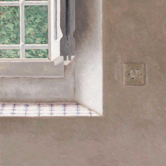 Villa di Xavier Bueno 2 olio su cartone, cm 14×13 [ collezione privata ]