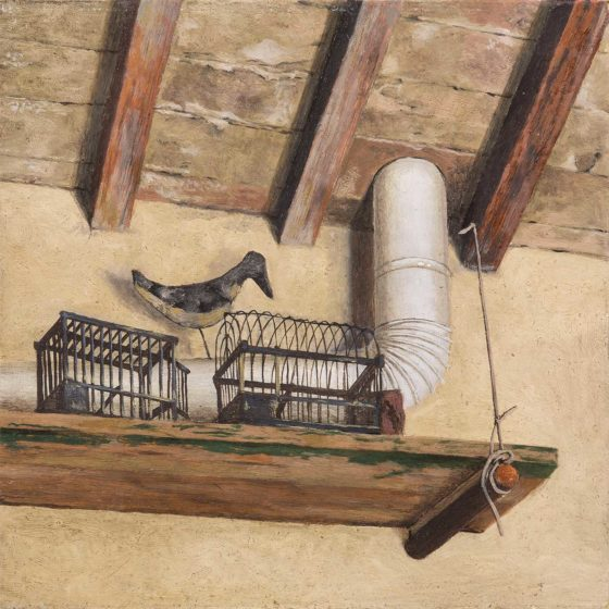Villa di Xavier Bueno 6 olio su cartone, cm 13×13