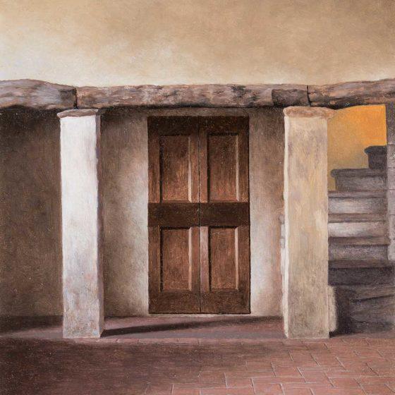 Villa di Primo Conti 1 olio su cartone, cm 30×20